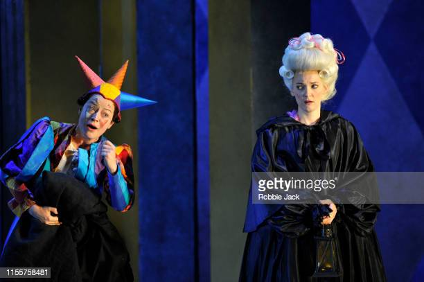 Hanna Hipp as Fantasio and Jennifer France as Princess Elsbeth in Garsington Opera's production of Jacques Offenbach's Fantasio directed by Martin...