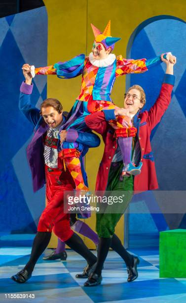 Hanna Hipp as Fantasio performs on stage during a dress rehearsal of Offenbach's Fantasio by The Garsington Opera at Garsington Opera at Wormsley on...