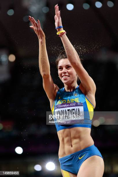 Hanna Knyazyeva of Ukraine compete in the Women's Triple Jump final on Day 9 of the London 2012 Olympic Games at the Olympic Stadium on August 5 2012...