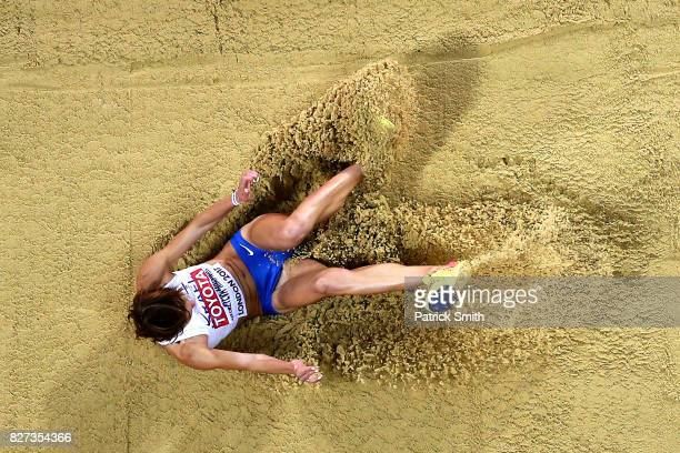 Hanna KnyazyevaMinenko of Israel competes in the Women's Triple Jump final during day four of the 16th IAAF World Athletics Championships London 2017...