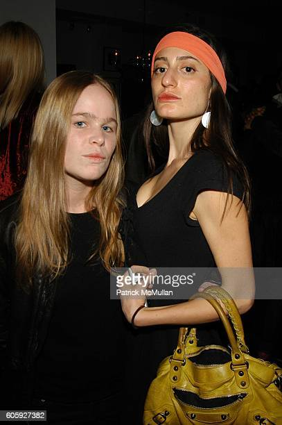 Hanna Liden and Arden Wohl attend Tribeca Film Festival preview of Jack Smith Destruction of Atlantis After Party at Jim Hedges Loft NYC on April 26...