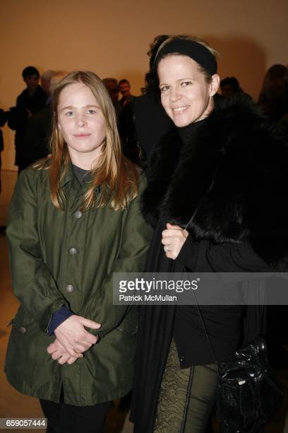 Hanna Liden and Yvonne Force Villareal attend TERENCE KOH JEFF KOONS MIKE KELLEY Exhibit Opening at Mary Boone Gallery on April 4 2009 in New York...