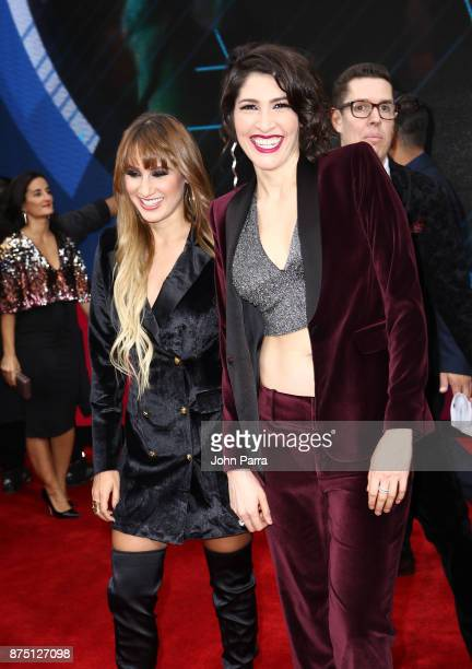 Hanna Nicole Perez Mosa and Ashley Grace Perez Mosa of HaAsh attends The 18th Annual Latin Grammy Awards at MGM Grand Garden Arena on November 16...