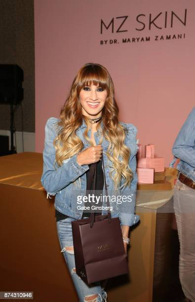 Hanna Nicole Pérez Mosa of Ha*Ash attends the gift lounge during the 18th annual Latin Grammy Awards at MGM Grand Garden Arena on November 14 2017 in...