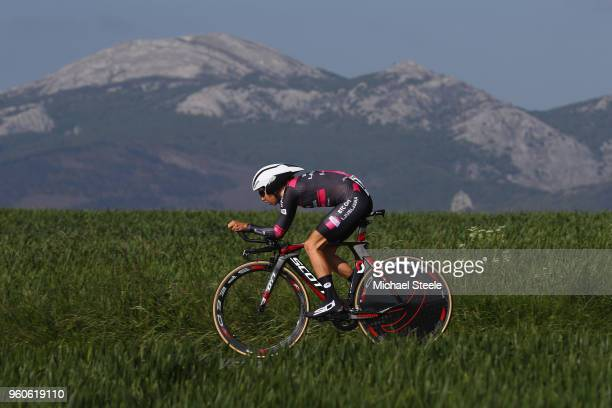 Hanna Nilsson of Sweden and BTC City Ljubljana during the 31st Women WT EmakumeenBira Stage 2 266km Individual Time Trial from Agurain to Gastetz on...