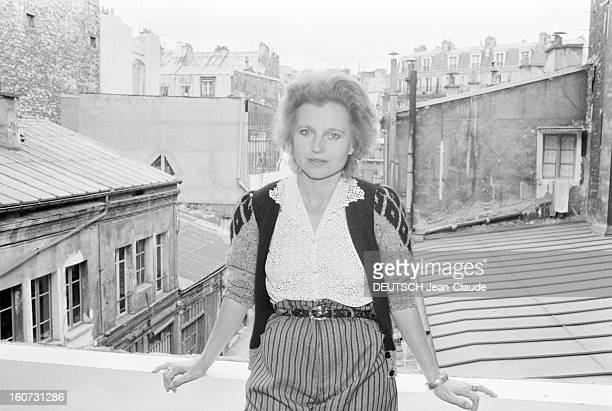 Hanna Schygulla A Paris le 20 septembre 1981 Rendezvous avec l'actrice allemande Hanna SCHYGULLA à l'occasion de la sortie du film 'Faussaire' du...