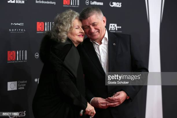 Hanna Schygulla and Aleksandr Sokurov during the 30th European Film Awards 2017 at 'Haus der Berliner Festspiele' on December 9 2017 in Berlin Germany
