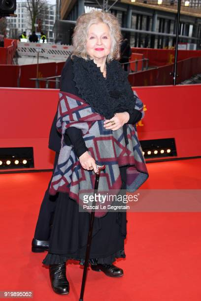 Hanna Schygulla arrives for the 'The Prayer' premiere during the 68th Berlinale International Film Festival Berlin at Berlinale Palast on February 18...