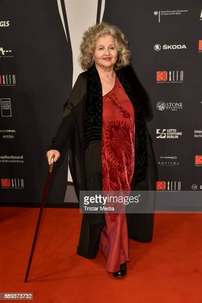 Hanna Schygulla attends the European Film Awards 2017 on December 9 2017 in Berlin Germany