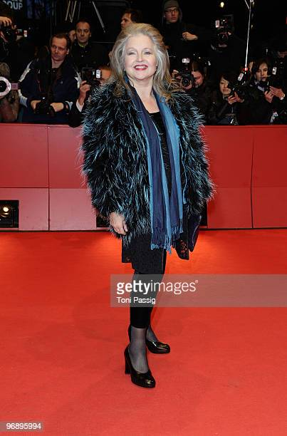 Hanna Schygulla attends the 'Otouto' Premiere during day ten of the 60th Berlin International Film Festival at the Berlinale Palast on February 20...