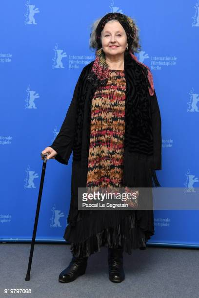 Hanna Schygulla poses at the 'The Prayer' photo call during the 68th Berlinale International Film Festival Berlin at Grand Hyatt Hotel on February 18...