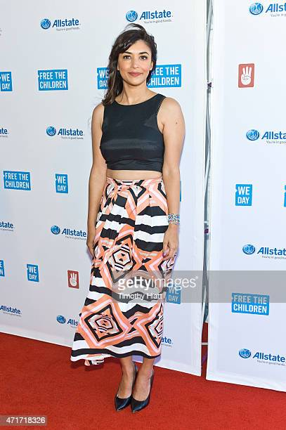 Hanna Simone attends We Day at Allstate Arena on April 30 2015 in Rosemont Illinois