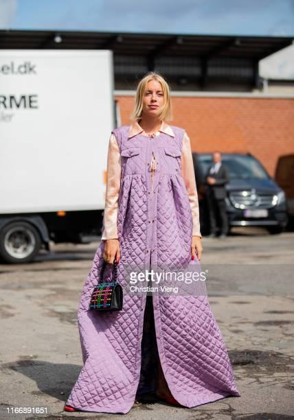 Hanna Stefansson is seen outside By Malene Birger during Copenhagen Fashion Week Spring/Summer 2020 on August 08 2019 in Copenhagen Denmark