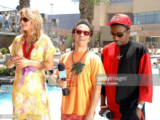 Hanna Verboom Rob Schneider and Eddie Griffin during Deuce Bigalow European Gigolo Male Gigolo Contest Hosted by MTV Hits Summer on the Strip at The...