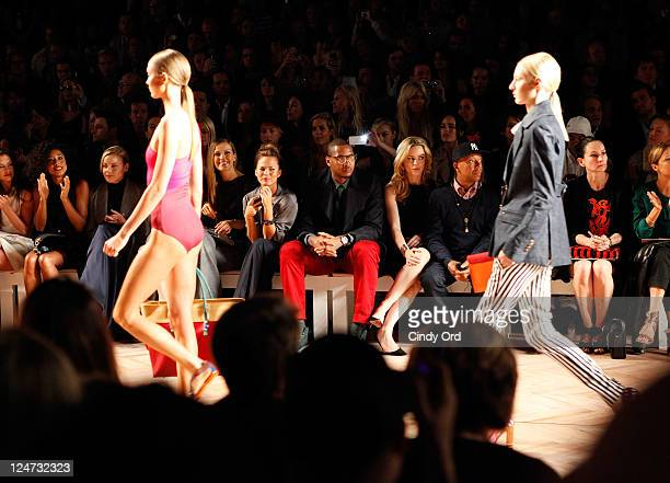 Hanna Ware Corinne Bailey Rae Abbie Cornish Petra Nemcova Chrissy Teigen Carmelo Anthony Melissa George and Russell Simmons attend the Tommy Hilfiger...