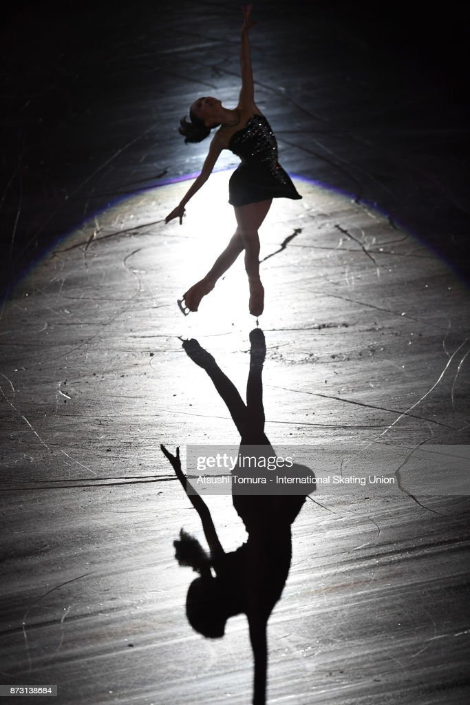 Hanna Yohsida of Japan performs in the gala exhibition during the ISU Grand Prix of Figure Skating at Osaka municipal central gymnasium on November 12, 2017 in Osaka, Japan.
