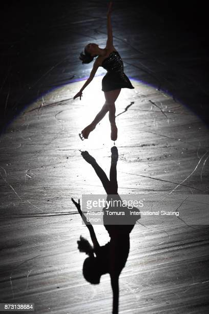 Hanna Yohsida of Japan performs in the gala exhibition during the ISU Grand Prix of Figure Skating at Osaka municipal central gymnasium on November...