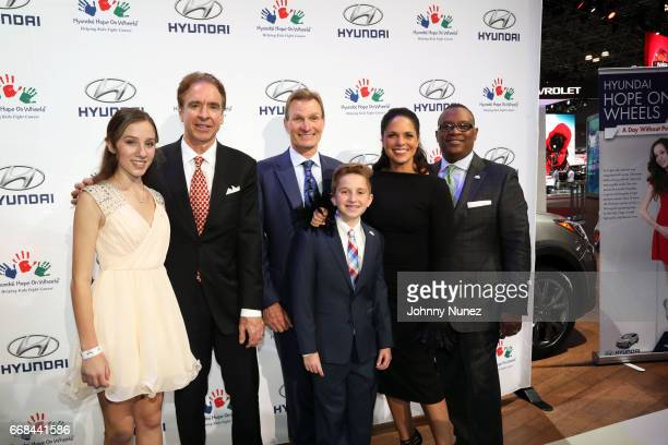 Hannah Adams Jerry Flannery Scott Finik Ryan Darby Soledad O'Brien and Zafar Brooks attend the Hyundai Hope On Wheels Reception at Jacob Javits...