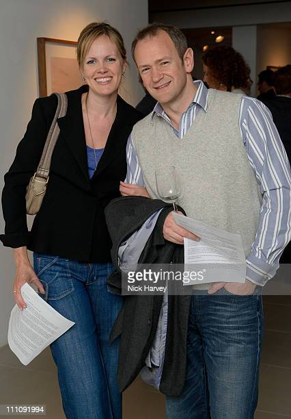 Hannah Armstong and Alexander Armstrong attend private view of exhibition 'Place in Mind' on March 29 2011 in London England