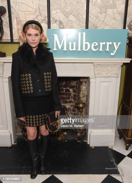 Hannah Arterton attends Mulberry's 'My Local' Festive Event on November 26, 2019 in London, England.