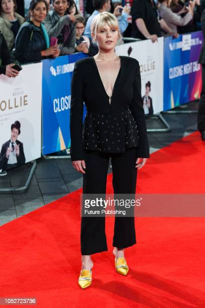 Hannah Arterton attends the World Premiere of 'Stan & Ollie' at Cineworld, Leicester Square, during the 62nd London Film Festival Closing Night Gala....