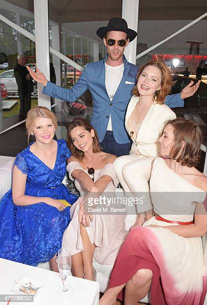 Hannah Arterton Jenna Coleman Harry Treadaway Holliday Grainger and Perdita Weeks attend day one of the Audi Polo Challenge at Coworth Park on May 30...