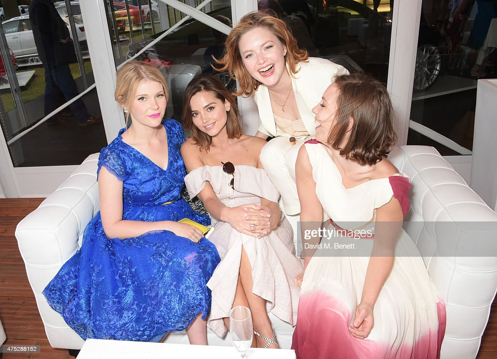 Hannah Arterton, Jenna Coleman, Holliday Grainger and Perdita Weeks attend day one of the Audi Polo Challenge at Coworth Park on May 30, 2015 in London, England.