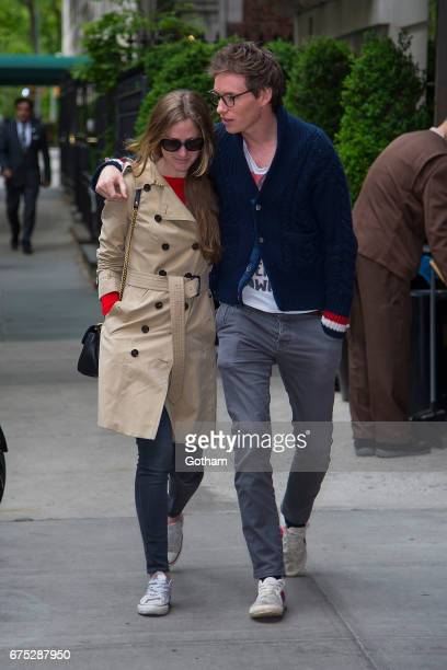 Hannah Bagshawe and actor Eddie Redmayne are seen in the Upper East Side on April 30 2017 in New York City