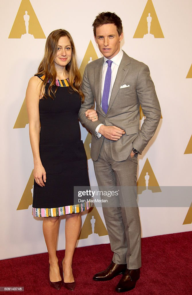 Hannah Bagshawe and actor Eddie Redmayne (R) attend the 88th Annual Academy Awards Nominee Luncheon in Beverly Hills, California.