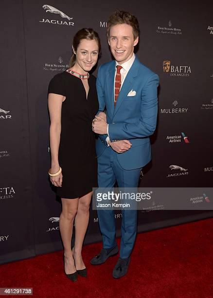 Hannah Bagshawe and actor Eddie Redmayne attend the BAFTA Los Angeles Tea Party at The Four Seasons Hotel Los Angeles At Beverly Hills on January 10...