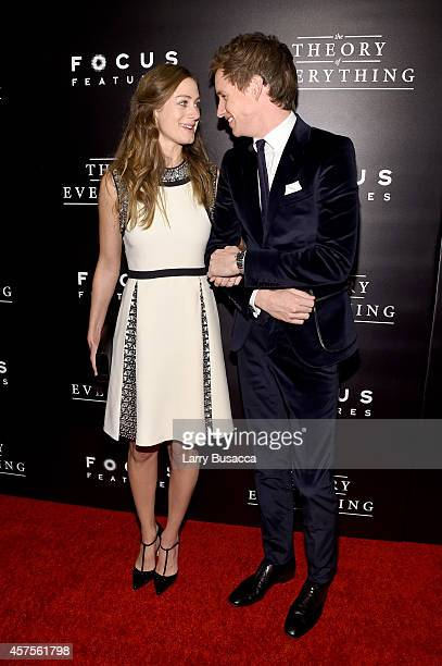 Hannah Bagshawe and actor Eddie Redmayne attend The Theory Of Everything New York Premiere at Museum of Modern Art on October 20 2014 in New York City