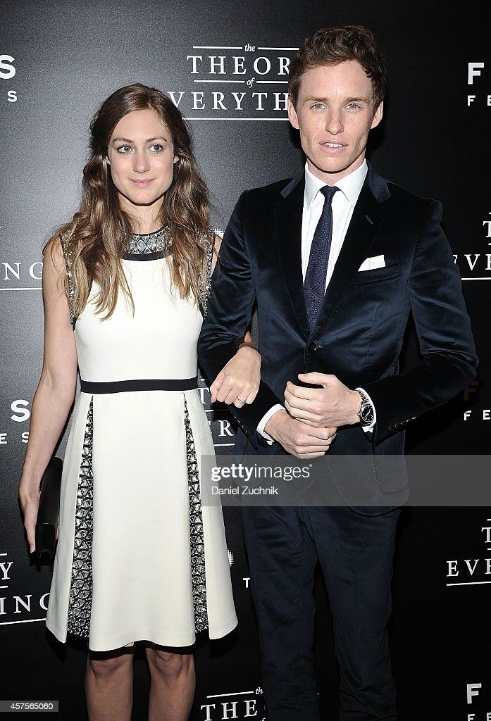 Hannah Bagshawe and actor Eddie Redmayne attend 'The Theory of Everything' New York Premiere at Museum of Modern Art on October 20, 2014 in New York City.