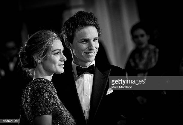Hannah Bagshawe and Eddie Redmaybe attend the EE British Academy Film Awards at The Royal Opera House on February 8 2015 in London England