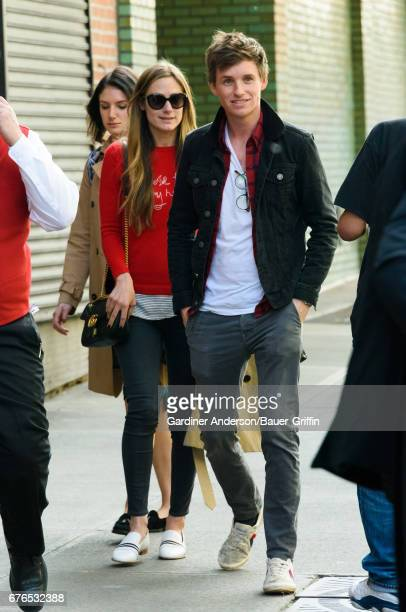 Hannah Bagshawe and Eddie Redmayne are seen on May 02 2017 in New York City