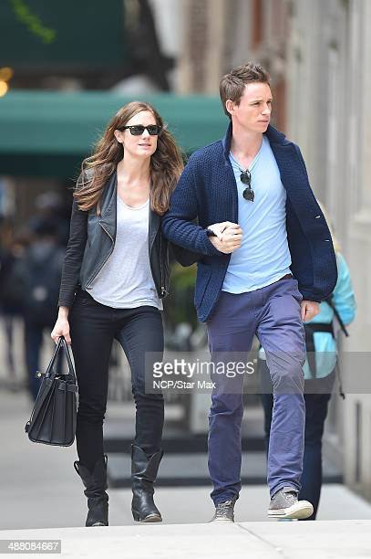 Hannah Bagshawe and Eddie Redmayne are seen on May 3 2014 in New York City
