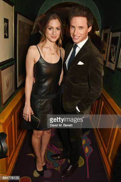 Hannah Bagshawe and Eddie Redmayne attend a pre BAFTA party hosted by Charles Finch and Chanel at Annabel's on February 11 2017 in London England