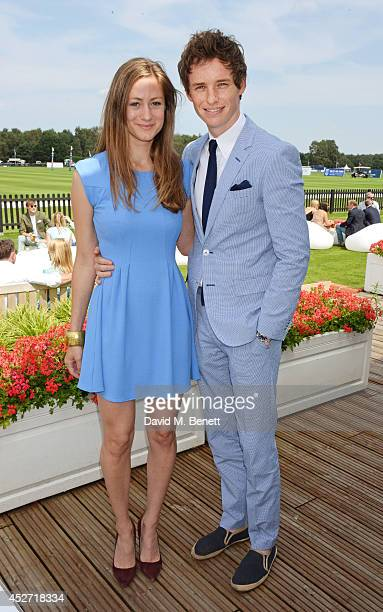 Hannah Bagshawe and Eddie Redmayne attend Audi International at Guards Polo Club, near Windsor, to support England as it faces Argentina for the...