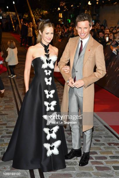 Hannah Bagshawe and Eddie Redmayne attend Fantastic Beasts The Crimes Of Grindelwald World Premiere at UGC Cine Cite Bercy on November 8 2018 in...