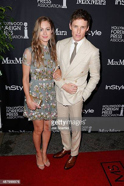Hannah Bagshawe and Eddie Redmayne attend HFPA/InStyle's Annual TIFF Celebration at Windsor Arms Hotel on September 12 2015 in Toronto Canada