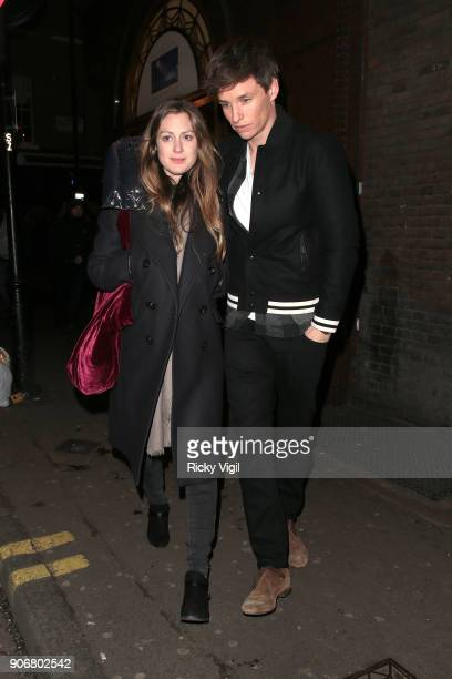 Hannah Bagshawe and Eddie Redmayne attend Soho House VIP relaunch party on January 18 2018 in London England