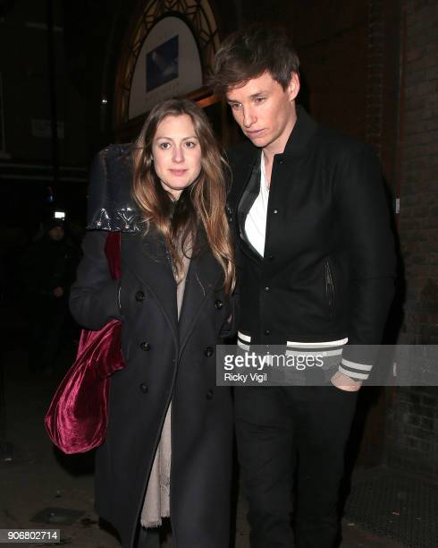 Hannah Bagshawe and Eddie Redmayne attend Soho House - VIP relaunch party on January 18, 2018 in London, England.