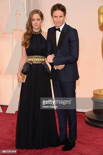 Hannah Bagshawe and Eddie Redmayne attend the 87th Annual Academy Awards at Hollywood Highland Center on February 22 2015 in Hollywood California