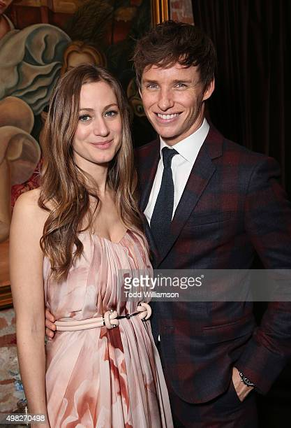 Hannah Bagshawe and Eddie Redmayne attend the after party for the premiere of Focus Features' The Danish Girl on November 21 2015 in Los Angeles...