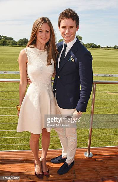 Hannah Bagshawe and Eddie Redmayne attend the Audi Polo Challenge 2015 at Cambridge County Polo Club on July 3 2015 in Cambridge England