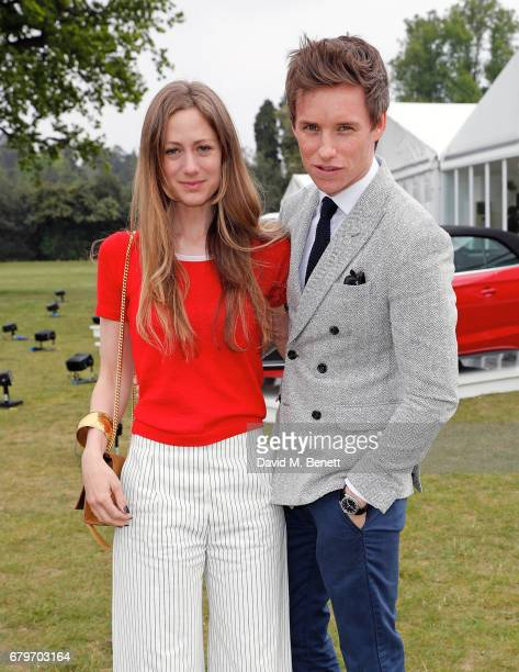 Hannah Bagshawe and Eddie Redmayne attend the Audi Polo Challenge at Coworth Park on May 6 2017 in Ascot United Kingdom