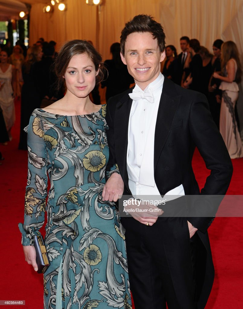 Hannah Bagshawe and Eddie Redmayne attend the 'Charles James: Beyond Fashion' Costume Institute Gala at the Metropolitan Museum of Art on May 5, 2014 in New York City.