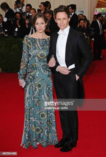 Hannah Bagshawe and Eddie Redmayne attend the 'Charles James Beyond Fashion' Costume Institute Gala at the Metropolitan Museum of Art on May 5 2014...