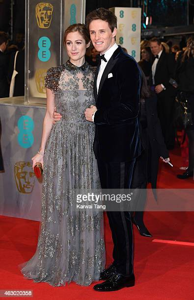 Hannah Bagshawe and Eddie Redmayne attend the EE British Academy Film Awards at The Royal Opera House on February 8 2015 in London England