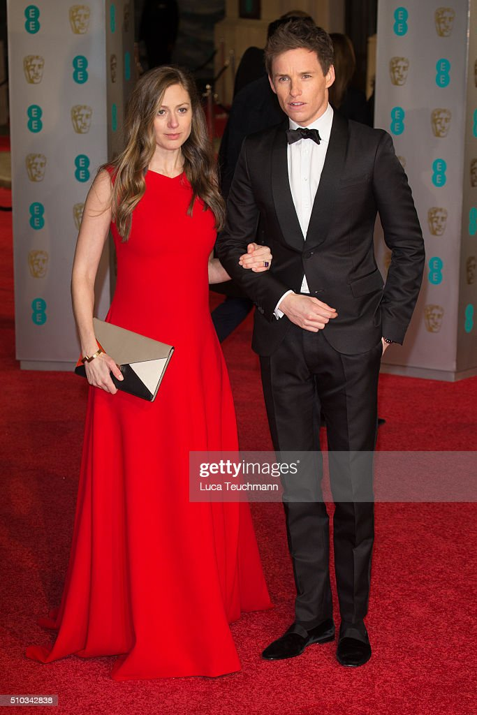Hannah Bagshawe and Eddie Redmayne attend the EE British Academy Film Awards at The Royal Opera House on February 14, 2016 in London, England.