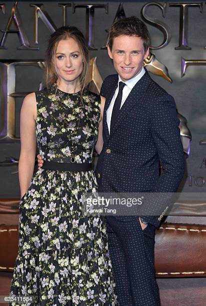 Hannah Bagshawe and Eddie Redmayne attend the European premiere of Fantastic Beasts And Where To Find Them at Odeon Leicester Square on November 15...